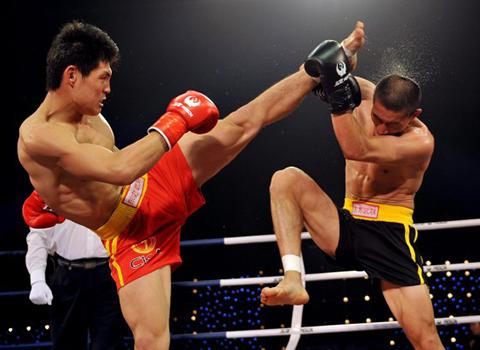 спаринг бойцов саньда, обучение китайскому боксу в минске