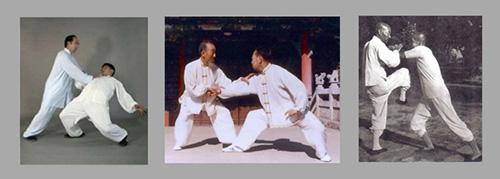Фотография демонстрирующая технику Туйшоу – «толкающие руки».