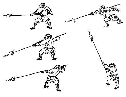Картинка человека с копьем, начало изучения синьцюань