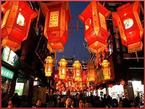 Китайский лунный новый год, бумажные фонарики