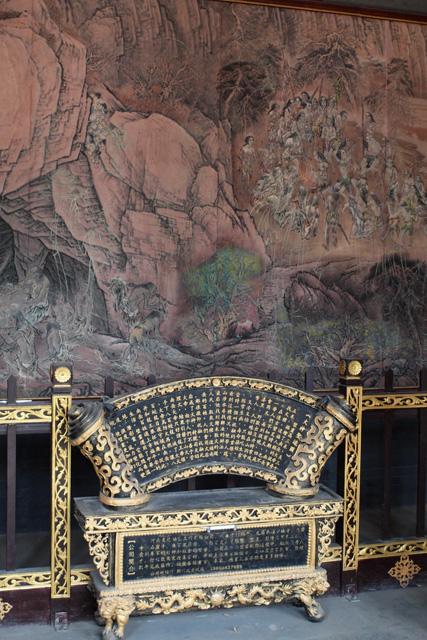 Фотография скрижалей в китайском храме даосов