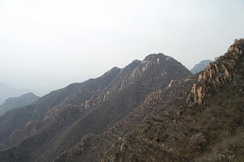 Пейзаж гор с Великой Китайской Стены