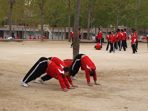 Фотография тренировочного процесса в Шаолине
