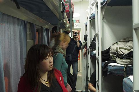 Фотография китайского плацкартного вагона