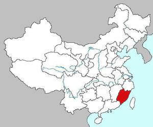 Провинция Фуцзянь на карте