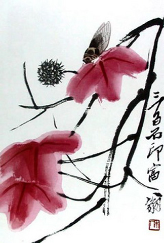 Изображение исян - искусства сочетать живопись, поэзию и каллиграфию в одном произведении