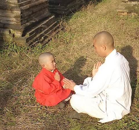 Фотография наставника и ученика кунг фу
