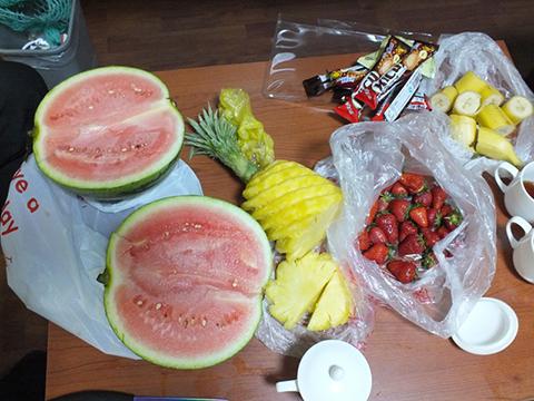 Фотография нарезанных фруктов