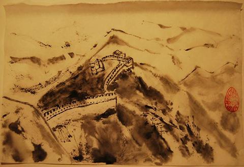 Рисунок Великой Китайской Стены