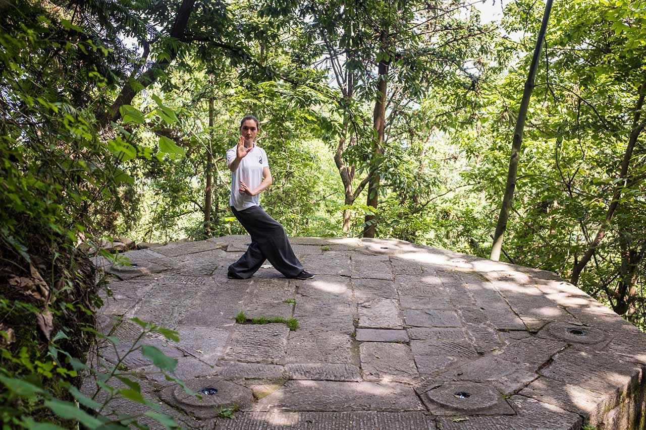 Ivashko Tatsiana doing Baguazhang